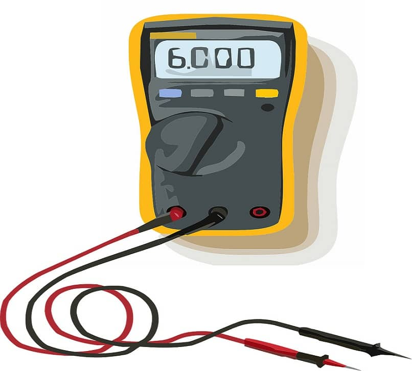 view of tester tool to measure voltage
