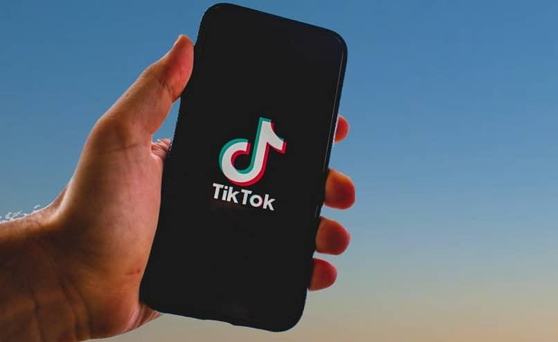 mobile with tiktok app