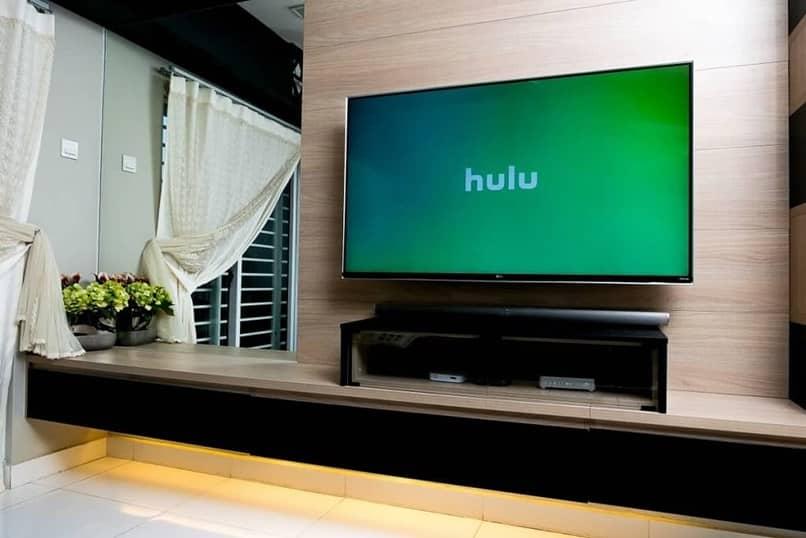 smart tv living room house hulu