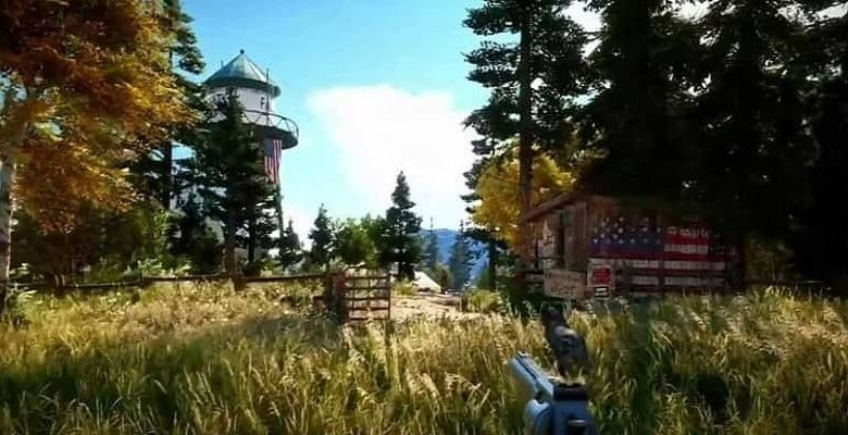 video game screen image view in montana