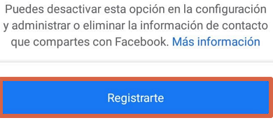 Photo of Create account or register on Facebook